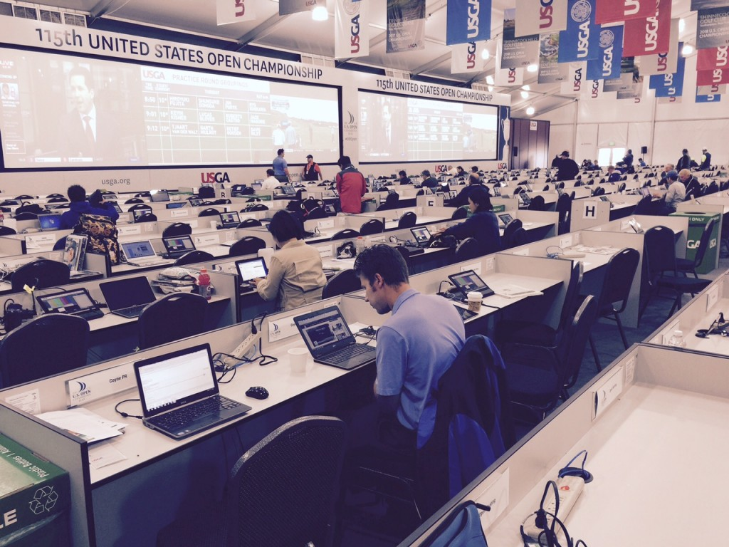 The media center at Chambers Bay.
