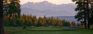 It's Mount Washington, looming over the 9th fairway at Alderbrook, but we call it George. Photo by Chris Mallory
